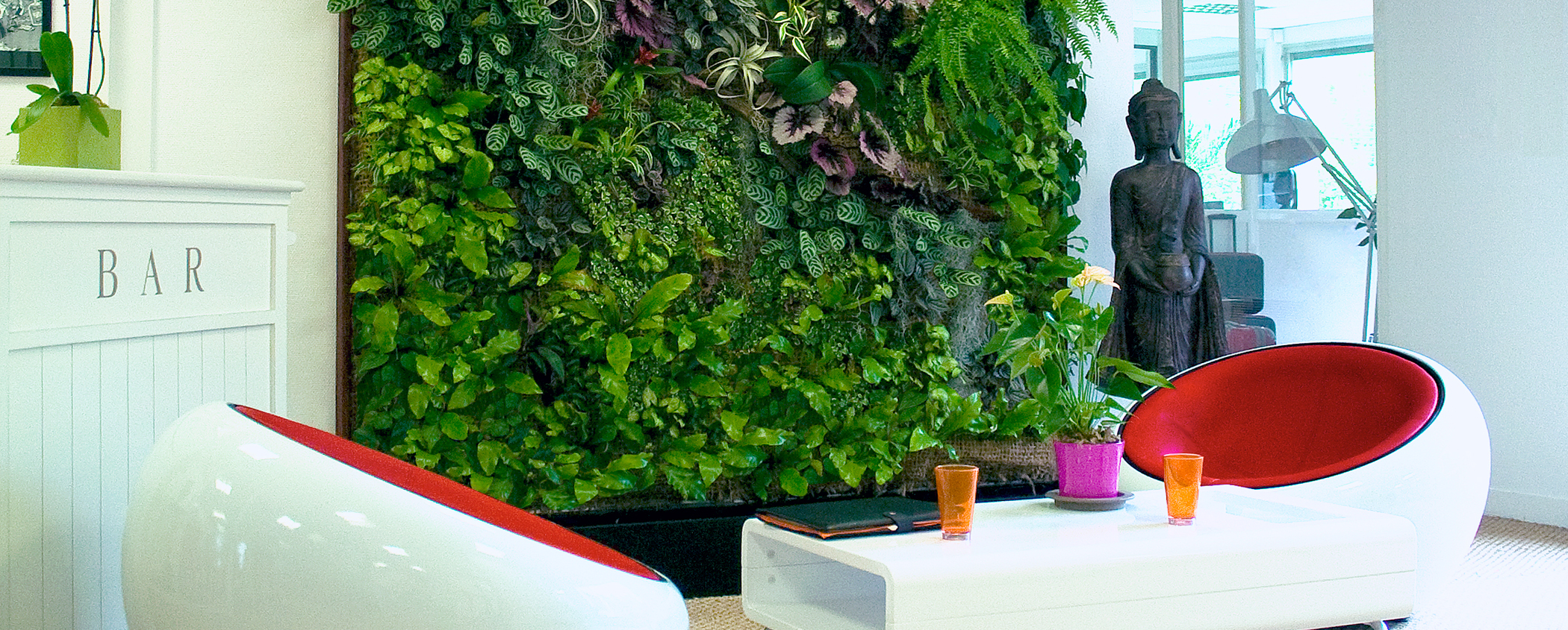 Living green walls for Interieur beplanting